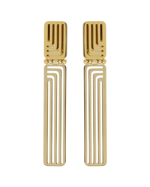 Lanvin - Metallic Gold Beyond Earrings - Lyst