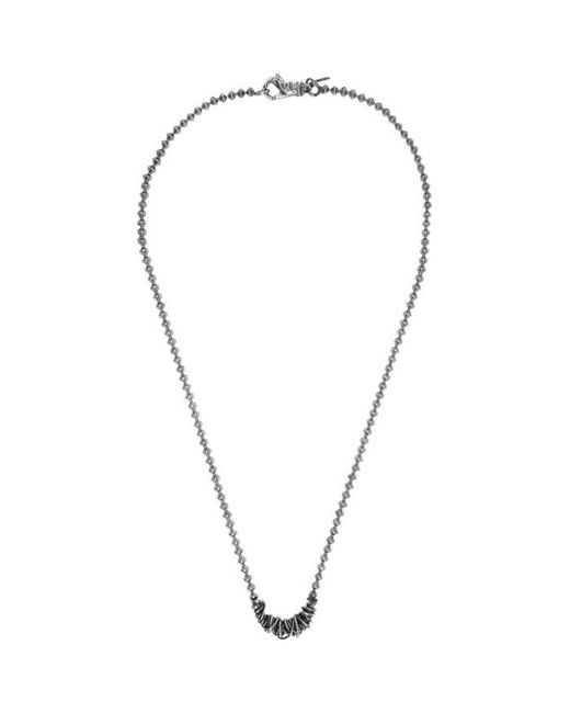 Emanuele Bicocchi | Metallic Silver Throttle Chain Necklace for Men | Lyst