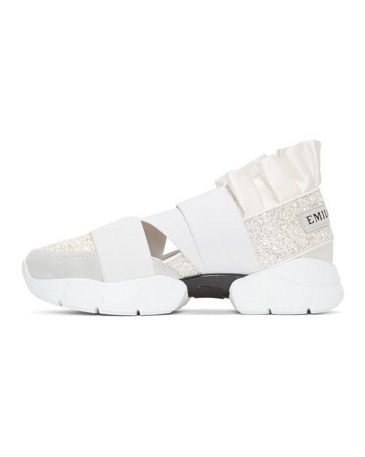 Emilio Pucci Pucci at Night' Glitter Ruffle Elastic Slip-On Sneaker UV0BoBO6r