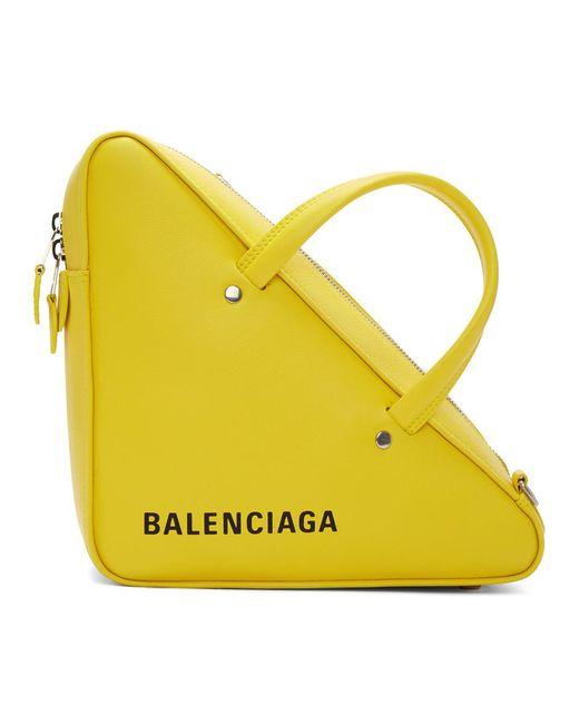 Balenciaga - Yellow Small Triangle Duffle Bag - Lyst
