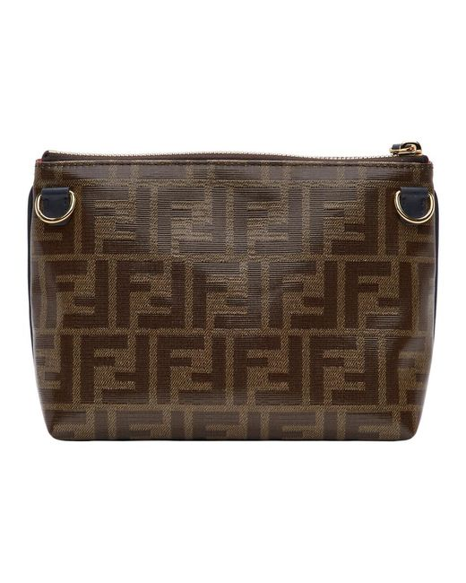 7eb756ee7969 ... Fendi - Brown Medium Mania Pyramid Pouch for Men - Lyst ...