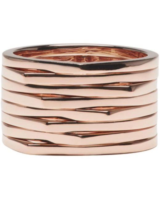 Repossi | Pink Rose Gold 8 Rows Antifer Ring | Lyst