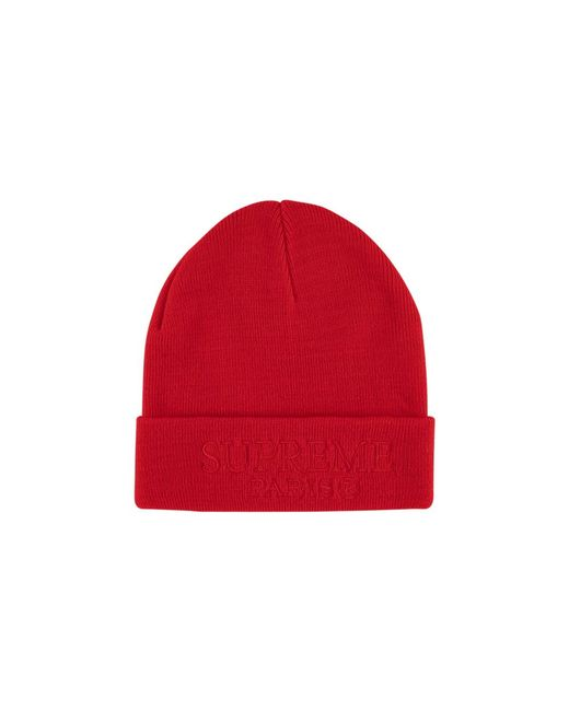 914ab77e396713 Supreme Tonal Logo Beanie Hat 'ss 19' in Red for Men - Lyst
