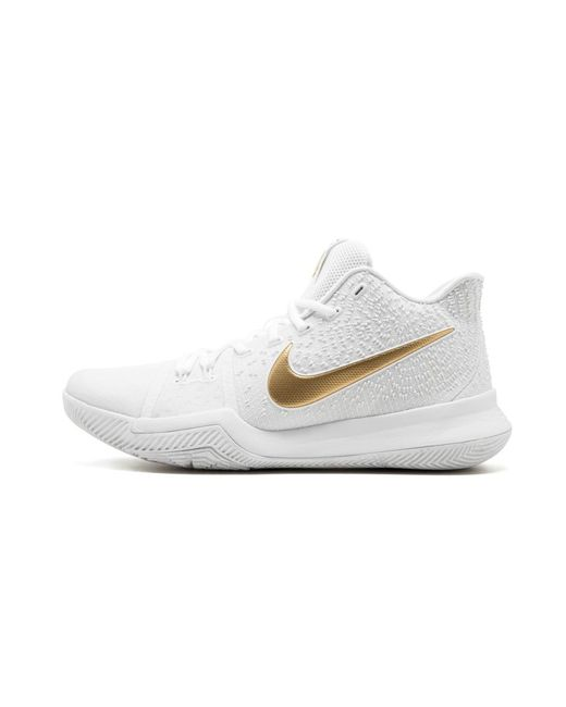 a2db3cb1e935 Lyst - Nike Kyrie 3 in White for Men - Save 33%