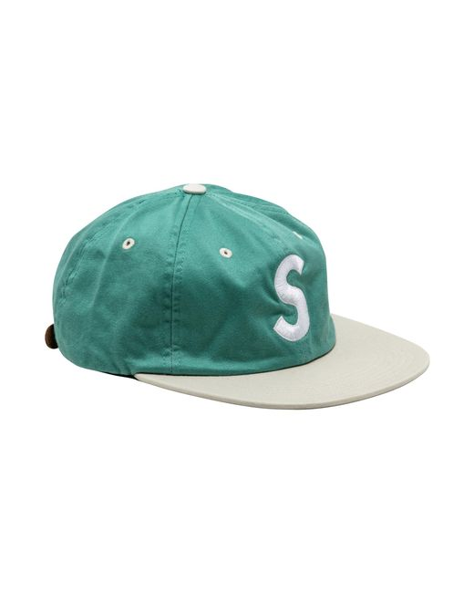 86c9c035bde Supreme Washed S Logo 6-panel in Green for Men - Save 16% - Lyst