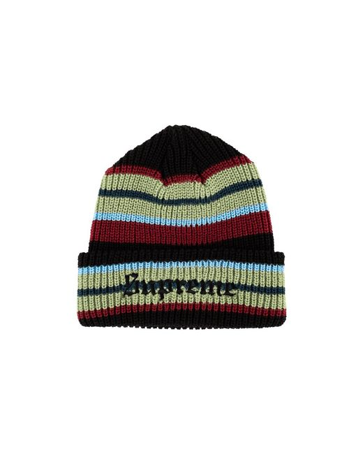 bc7d5595 Supreme Bright Stripe Beanie Hat 'fw 18' in Black for Men - Lyst