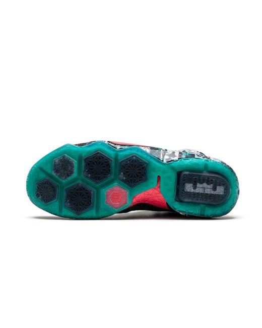6b90729375d6 Nike Lebron 12 Xmas Emerald Green hyper Punch in Green for Men - Lyst