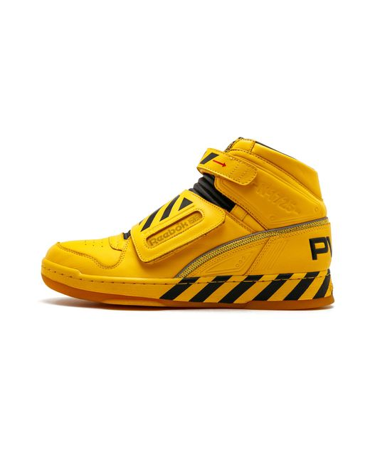 ... Reebok - Yellow Alien Stomper Mid Final Scene Pack for Men - Lyst ... 6b1ddeb7c