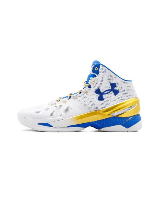 new arrival 0138f c1d42 Men's Blue Ua Curry 2 'gold Rings' - Size 11