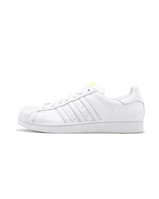lyst adidas superstar pharrell supershell in bianco salvare