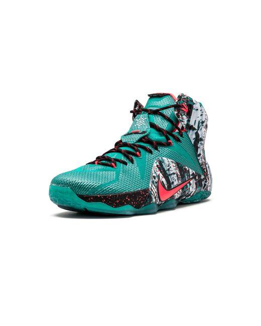72a6421c5dc5 ... Nike - Lebron 12 Xmas Emerald Green hyper Punch for Men - Lyst ...