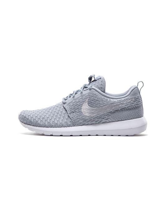 6cea578f7e31 Nike Roshe Nm Flyknit in Gray for Men - Save 20% - Lyst