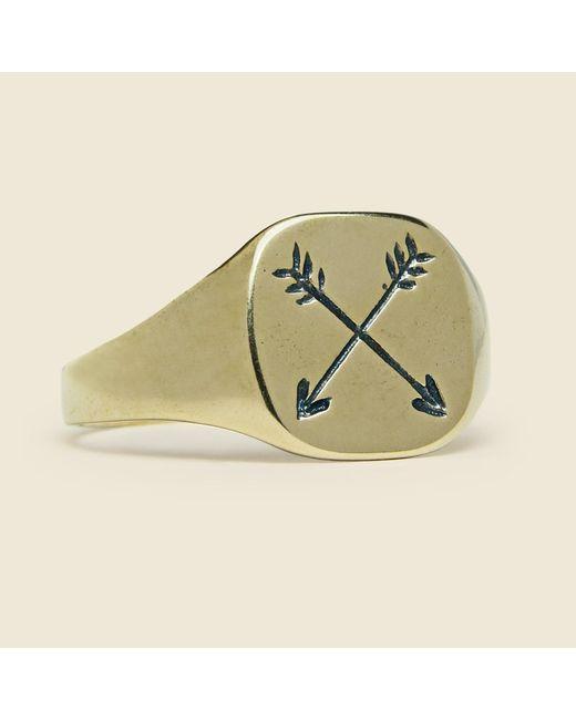 Lhn Jewelry   Metallic Arrow Ring - Brass for Men   Lyst