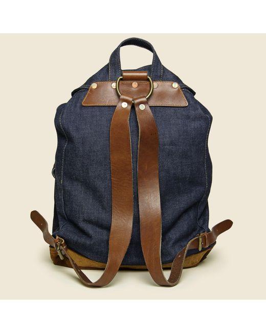 284c749e2f ... RRL - Blue Riley Denim Rucksack - Indigo for Men - Lyst ...