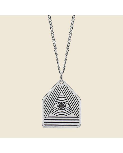 Lhn Jewelry - Metallic All Seeing Eye Pendant - Silver - Lyst