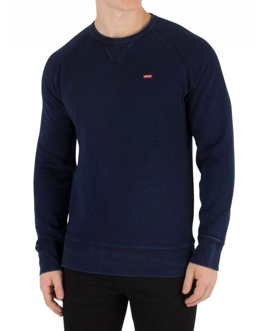 Levi's - Blue Indigo Original Icon Sweatshirt for Men - Lyst