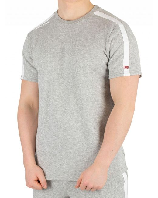 bab88ff1c90c Calvin Klein - Gray Grey Heather Logo T-shirt for Men - Lyst ...