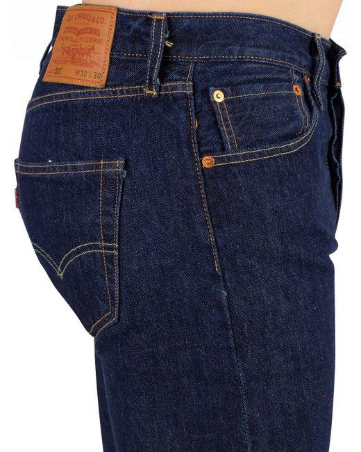 04849bd2d0e ... Lyst Levi's - Blue Onewash 501 Original Fit Jeans for Men ...