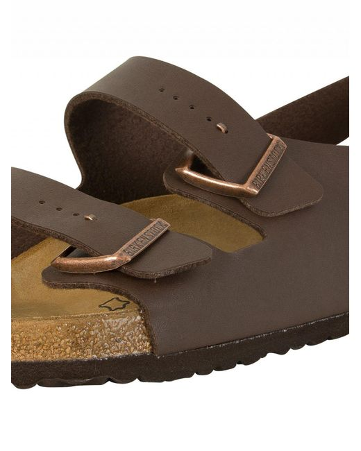 479629be0665 Lyst - Birkenstock Dark Brown Milano Sandals in Brown for Men - Save 7%