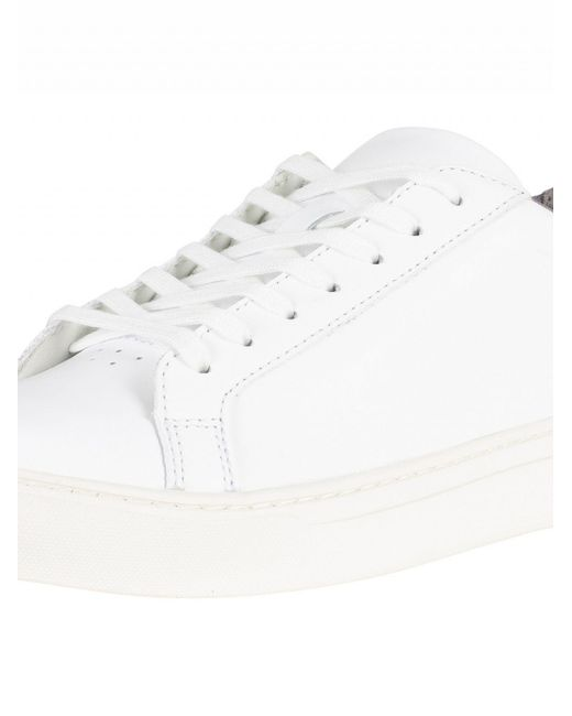 09a13a9ad ... Lacoste - White grey L.12.12 317 4 Cam Leather Trainers for Men ...