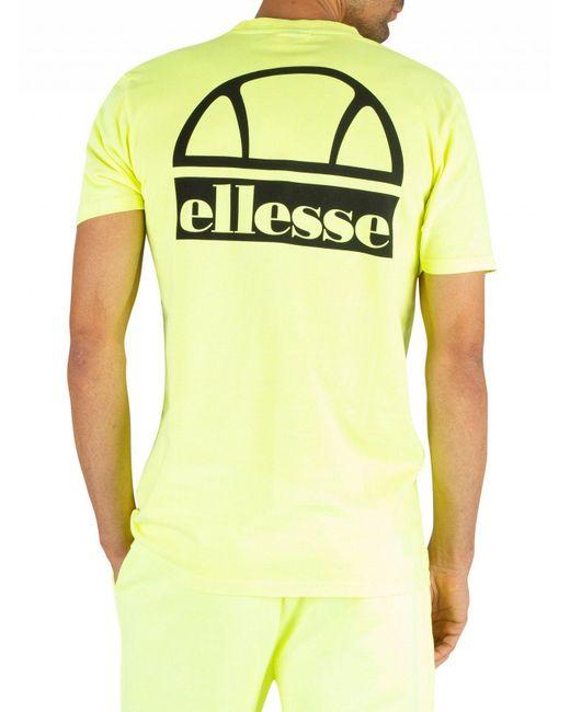 2a17343b11 Ellesse Men's Cuba T-shirt, Yellow Men's T Shirt In Yellow in Yellow ...