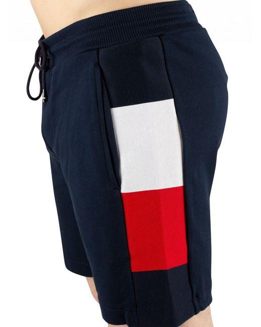 044604f6924 ... Tommy Hilfiger - Blue Sky Captain Flag Rib Insert Sweat Shorts for Men  - Lyst ...