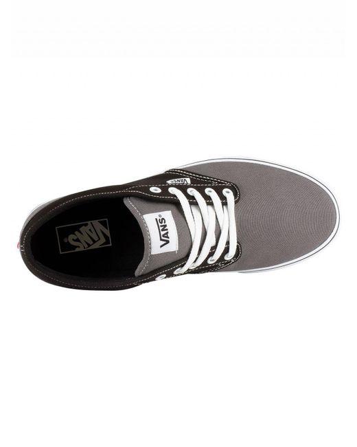 2f2a13f0c81 ... Vans - Black grey Atwood Sidewall Logo Trainers for Men - Lyst ...