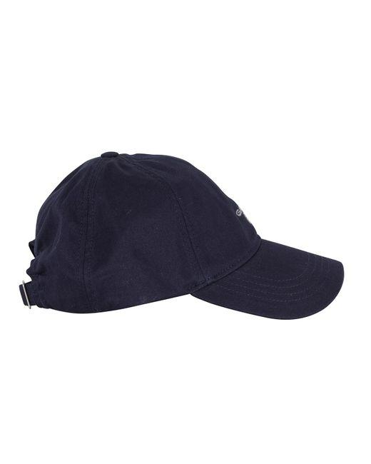 3f2be20f77f ... Gant - Blue Marine Twill Logo Cap for Men - Lyst ...