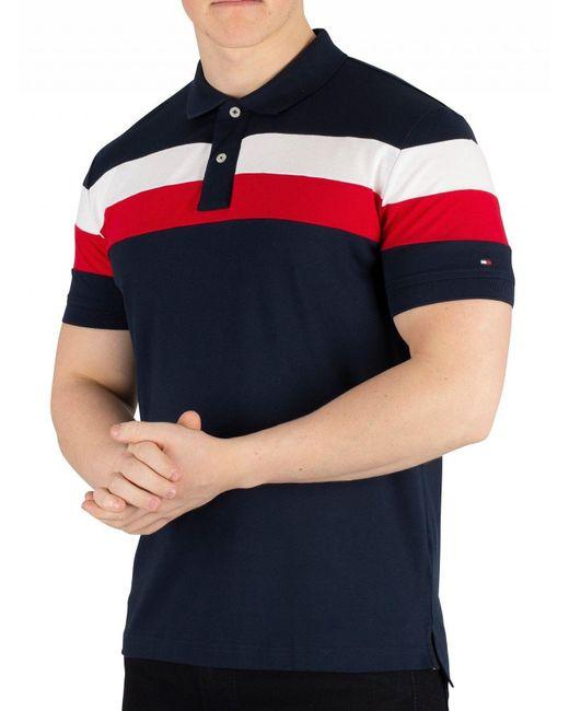 6a7141ab8 Tommy Hilfiger - Blue Sky Captain Chest Stripe Regular Poloshirt for Men -  Lyst ...