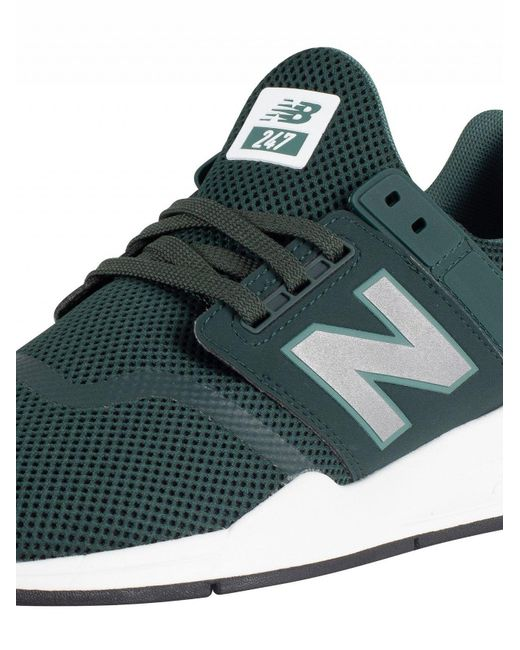576db36564e71 ... New Balance - Green 247 Mesh Trainers for Men - Lyst ...