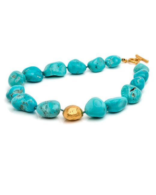 Yossi Harari - Blue Roxanne Rough Turquoise Necklace - Lyst