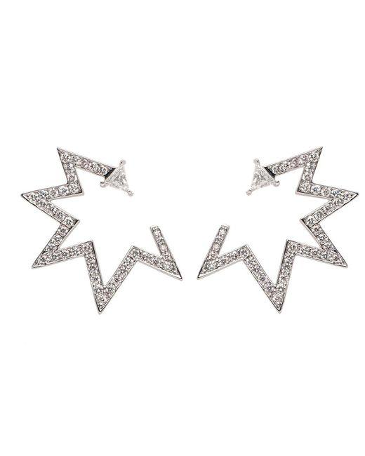 Nikos Koulis | Multicolor 18k Pave Diamond Starburst Earrings | Lyst