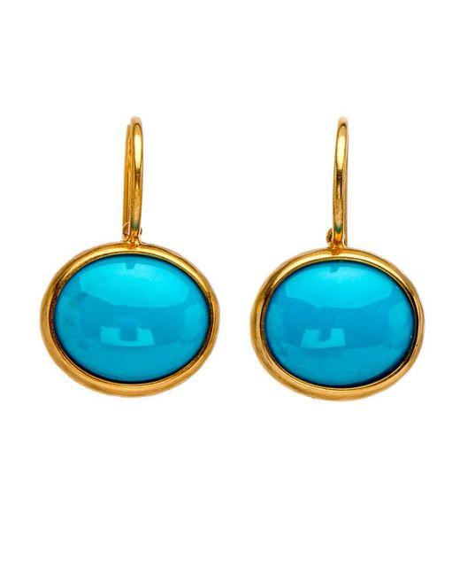 Darlene De Sedle | Blue Cabochon Turquoise Oval Earrings | Lyst