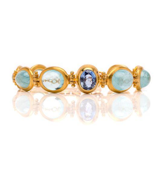 Darlene De Sedle | Metallic Cabochon Oval Link Bracelet | Lyst