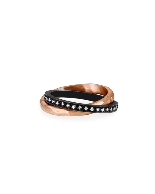 Nancy Newberg | Metallic Rose Gold And Oxidized Silver Rolling Ring | Lyst