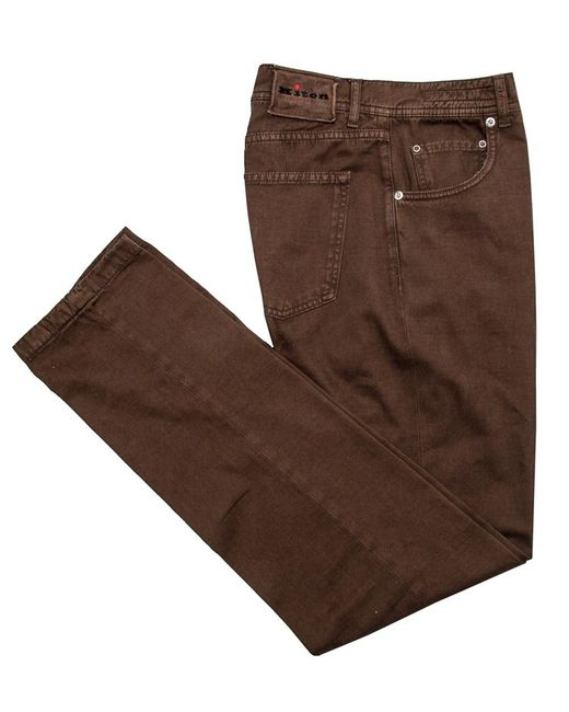 Kiton | Brown Rust 5 Pocket Pant for Men | Lyst