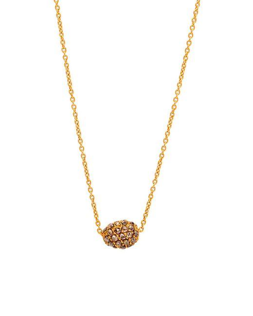 Yossi Harari   Metallic Helen Mini Cognac Diamond Pave Bead Necklace   Lyst