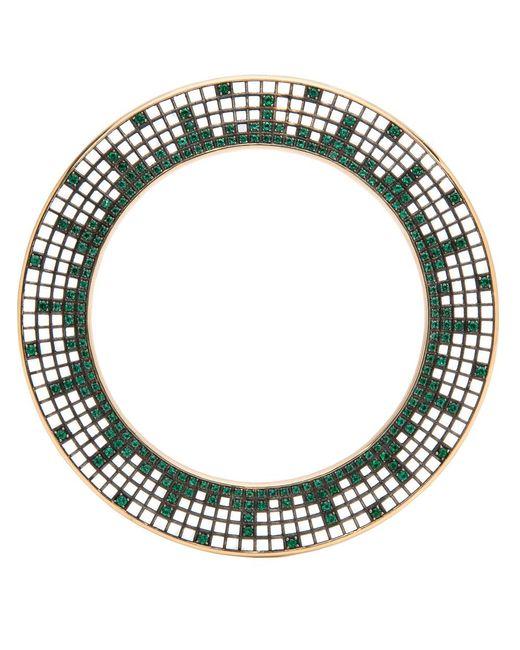 Roule & Co.   Green Brilliant Cut Emerald Halo Bangle   Lyst