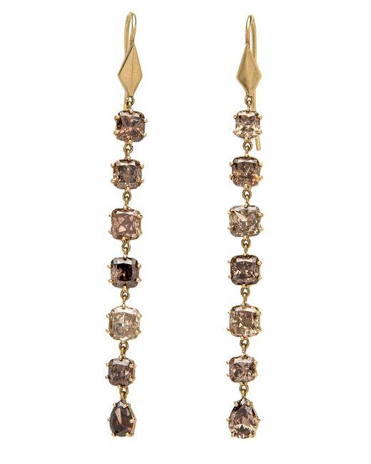 Sylva & Cie | Multicolor Mixed Fancy Diamond Long Earrings | Lyst