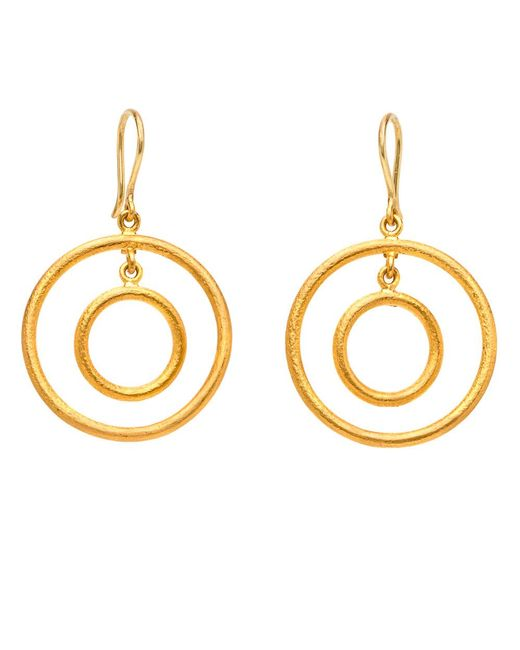 Yossi Harari | Metallic Double Round Wire Earrings | Lyst