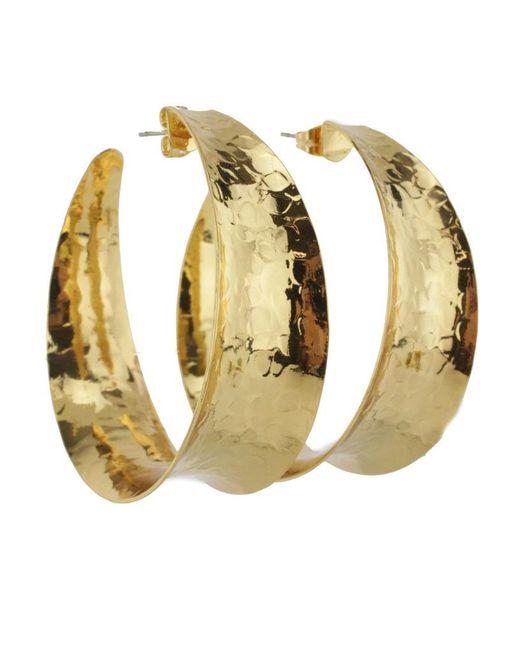Nest | Metallic Gold Concave Hoop Earrings | Lyst