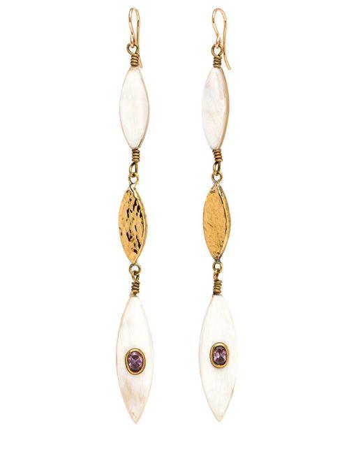 Ashley Pittman - Metallic Tarabu Light Horn Earrings - Lyst
