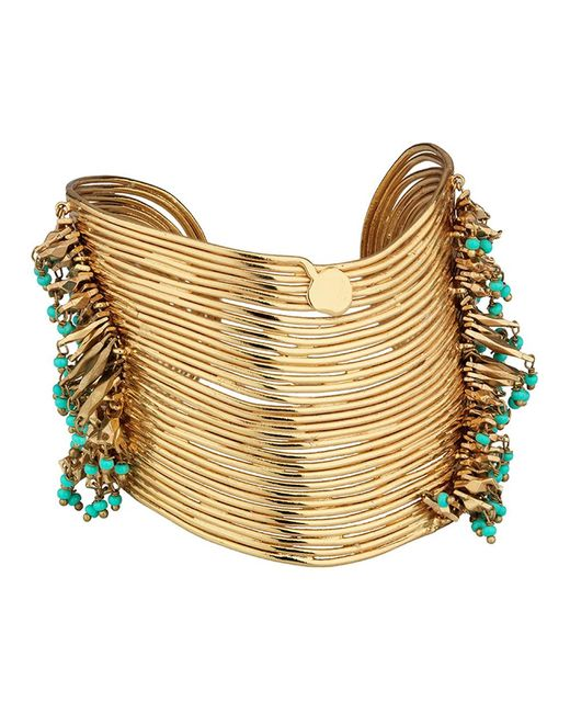 Gas Bijoux - Metallic Wave Tassel Cuff Bracelet - Lyst