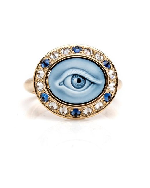 Ana Katarina - Metallic Eye Love Pinky Ring - Lyst