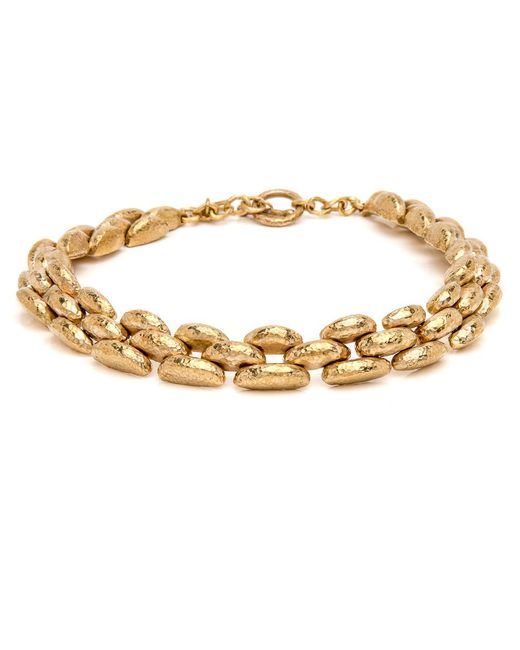 Ashley Pittman | Metallic Haki Bronze Chunky Necklace | Lyst