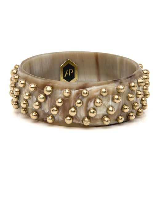 Ashley Pittman - Metallic Mahiri Light Horn Bangle - Lyst