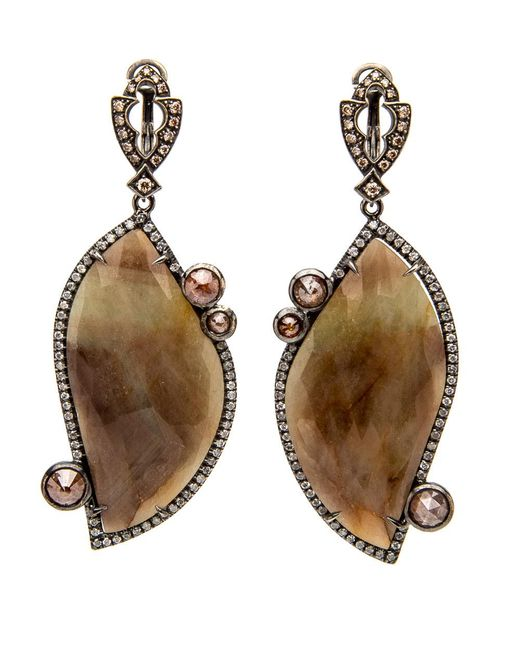 Loree Rodkin | Multicolor Small Paisley Pave Diamond Earrings | Lyst