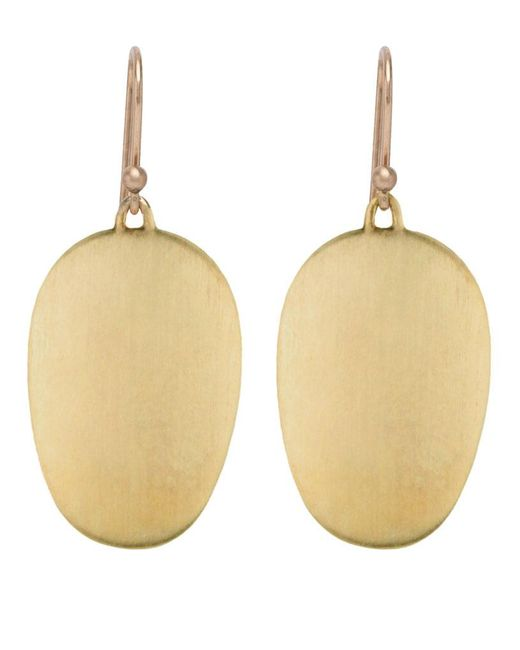 Ted Muehling - 18k Green Gold Large Chip Earrings - Lyst