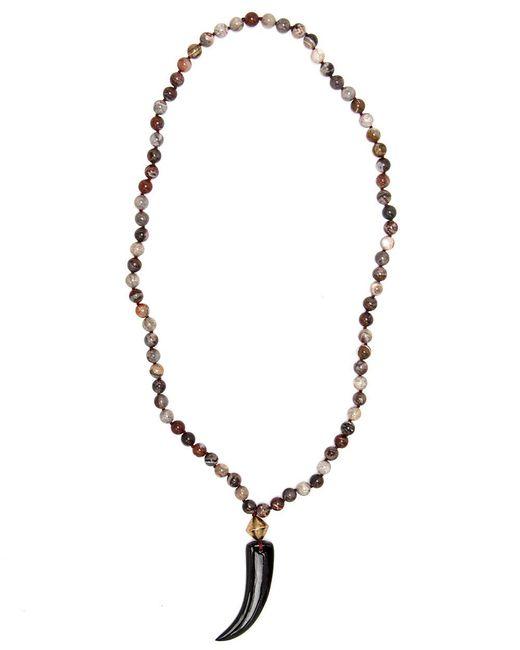 Nest | Multicolor Agate Mix Beaded Long Pendant Necklace | Lyst