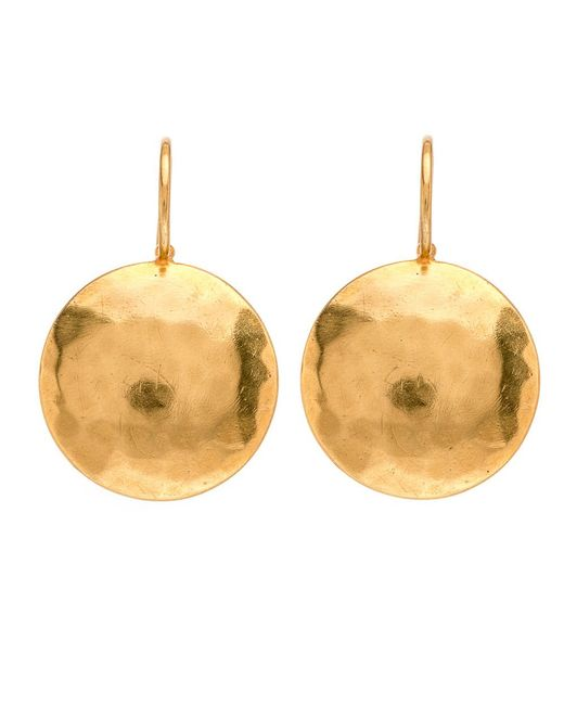 Darlene De Sedle - Metallic Medium Gold Sundisc Earrings - Lyst